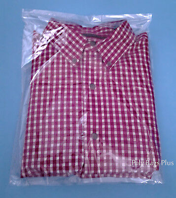300 Clear Poly T-shirt 200- 9x12 + 100-11x14 Apparel Flat Open Top Plastic Bags