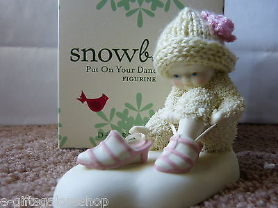 "NEW in box Snowbabies ""Put On Your Dancing Shoes"" 4026397!"