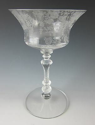 Cambridge Glass ROSE POINT-CLEAR (3500) Champagne/Sherbet Glass(es) EXCELLENT