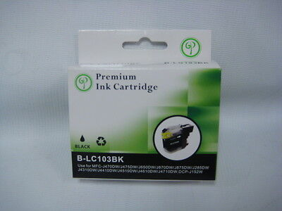 Premium Compatible Black Ink Cartridge Brother Printer Mfcj470Dw Lc103Bk Sale