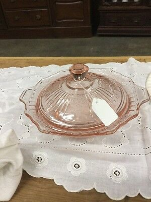 Depression glass pink mayfair Butter dish
