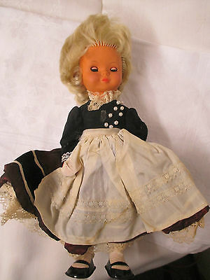 Vintage German Westo Doll celluloid face native costume