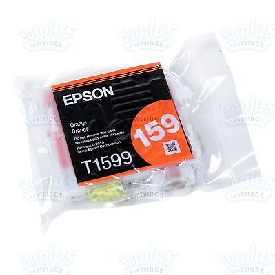 Genuine Epson 159 Orange Ink Cartridge T1599 T159920 T159 Stylus Photo R2000