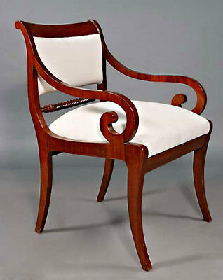 C-Gm-136 Beautiful Armchair Chair Seating furniture antique in the Biedermeier