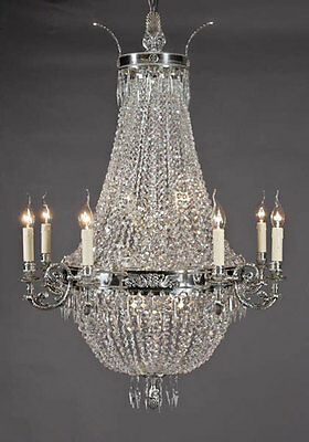 F-Ra-26 Beautiful, large Basket chandeliers Biedermeier Style Lamp Light