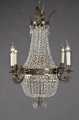 F-Ra-31 Petite Basket chandeliers in the Biedermeier Style Chandelier Lamp Light