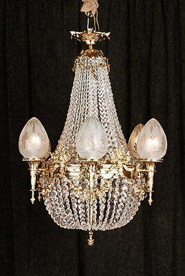 F-Hs-40 Classic Basket chandeliers in the Style of the Biedermeier