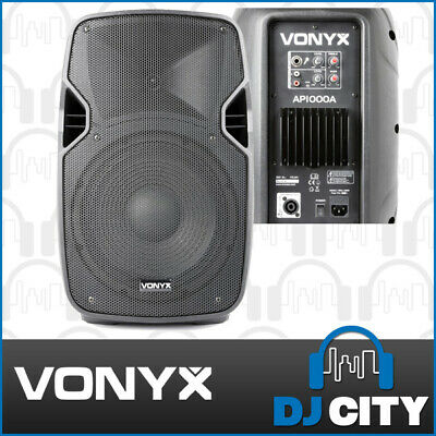 "Vonyx AP1000A Powered 10"" PA DJ Speaker 400W With 200W Passive Speaker Output"