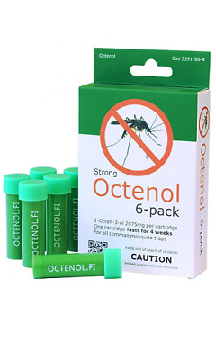 6 Pack Mosquito Magnet Type Octenol Attractant 25% Stronger