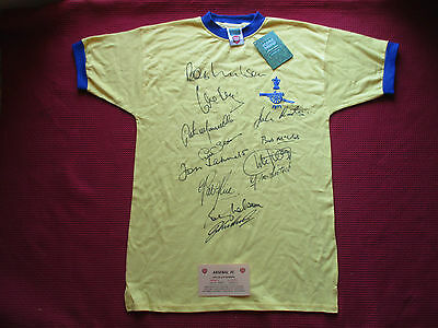 Arsenal Gunners *12* Personally Hand Signed 1971 Fa Cup Shirt- Bnwt- Photo Proof
