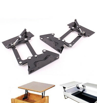 Lift Up Top Coffee Table DIY Hardware Fitting Furniture Gas Hydraulic Hinge
