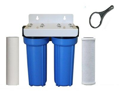 """2 Stage Twin Whole House Water Filter System 