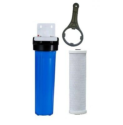 10' x 2.5' Whole House Water Services Filter System   5 Micron Carbon & Sediment