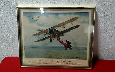 Charles Hubbel lithograph print a double for Rickenbacher world war 1 airplane