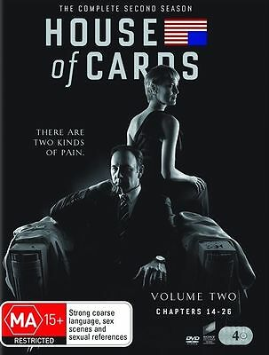 House of Cards: The Complete Second Season DVD, 2014, 4-Disc Set New Sealed.