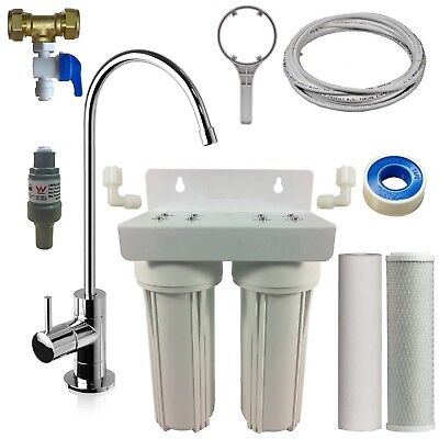 Premium Twin Undersink Water Filter System | Inc Free Designer NSF approved Tap