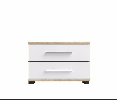 Belinda New Bedside Cabinet furniture drawers table night stand modern oak white