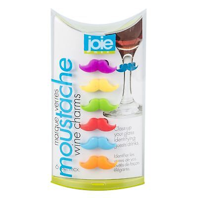 Joie 6pc Mustache Moustache Wine Glass Charms Markers