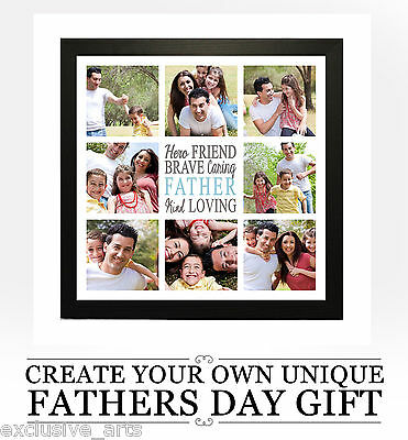 Fathers Day Collage Personalised Framed Photo Gift - Unique