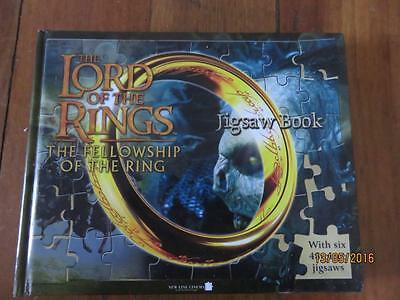 LORD of the RINGS - Fellowship of the Ring Jigsaw Book  6 x 48 Piece Puzzles VGC