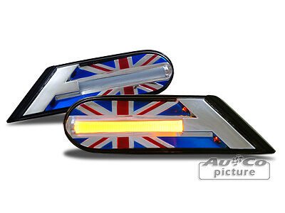 Frecce Fanali Laterali LED x Mini R56 R55 R57 R58 R59 Union Jack Design