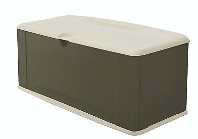 Rubbermaid 5E39 Extra Large Deck Box with Seat Rubbermaid FG5E3900OLVSS New