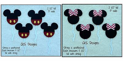 Die Cut Mickey OR Minnie Mouse Disney Balloons Scrapbook Paper Piecing CKS