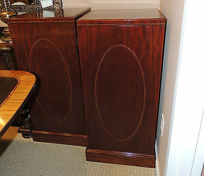 Pair Antique Early 19th Century Mahogany Pedestals Storage side stands tables