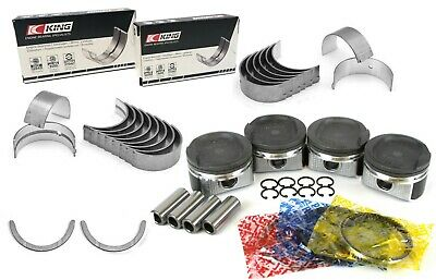 NEW 00-08 Toyota Celica Matrix 1.8L 1ZZFE PISTONS RINGS KIT MAIN ROD BEARINGS