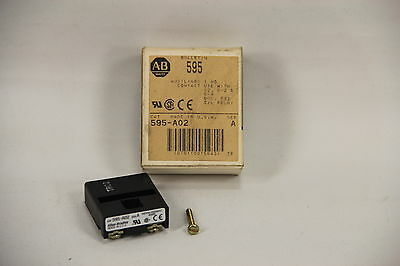 Allen Bradley 595-A02 Auxiliary Contact O/L Relay Use with sz. 0-2 & 5-9