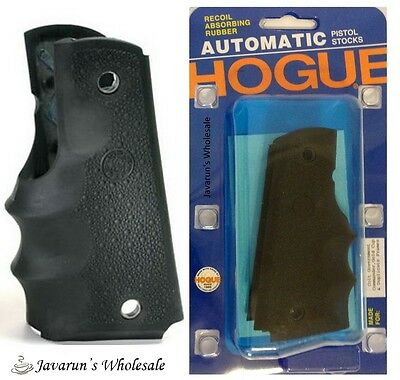 Hogue 1911 Government Model Rubber Grip with Finger Grooves Black-G45000 NEW
