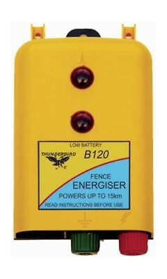 Thunderbird B120 Electric Fencing,  Fence Energiser 15KM  Battery Powered *5643*