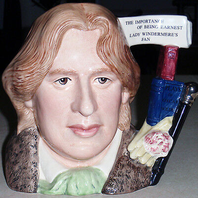 "Royal Doulton Oscar Wilde CHARACTER Jug NEW NEVER SOLD D7146 7"" tall LARGE"