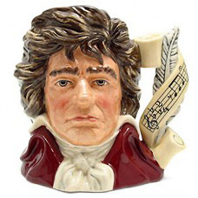 "BEETHOVEN Royal Doulton NEW NEVER SOLD Character Jug D7021 7.25"" tall LARGE"