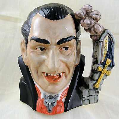 "Royal Doulton Dracula the Count CHARACTER Jug NEW NEVER SOLD D7053 7"" tall LRG"