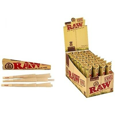 New! RAW 11/4 size ORGANIC HEMP Pre Rolled CONES -Full Display Box of 192 Cones