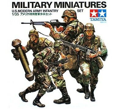 Tamiya 35133 1/35 Scale Military Figure Model Kit U.S Modern Army Infantry Set