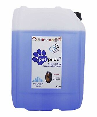 20L Pet Pride Cattery Kennel Disinfectant Deodoriser Cleaner Mountain Fresh