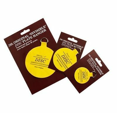 Plate Disc Invisible Picture Hanging Sticky Back On Hook Hanger Self Adhesive *