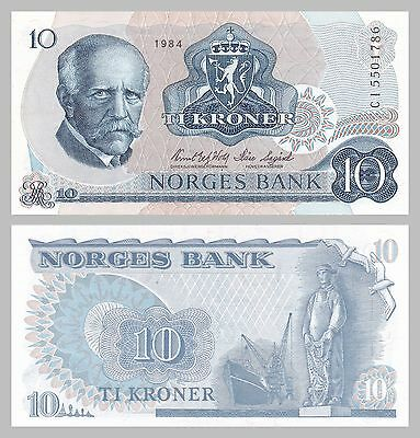 Norwegen / Norway 10 Kroner 1984 p36c unz.