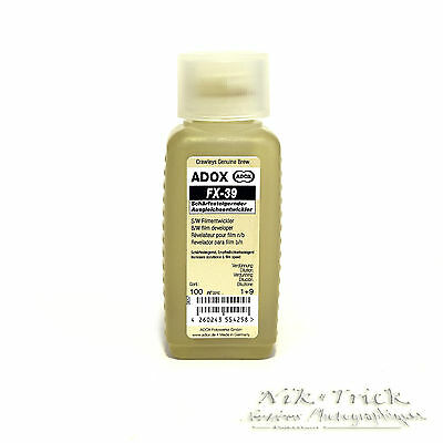 Adox FX-39 100ml Concentrate ~ Ideal Developer for T-Grain Films