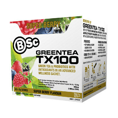BSc Body Science Green Tea TX100 - BodyScience GreenTea Weight Loss Probiotic