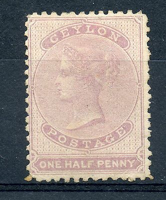 Ceylon 38 MH 1/2p lilac OG single, 1864 QV issue, scarce sound stamp. CV $260