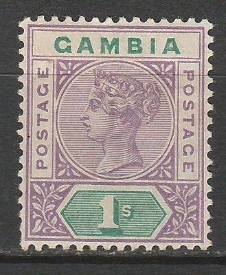 Gambia 1898 Qv 1/- Top Value