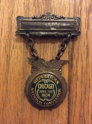 1904 Republican National Convention President Theodore Roosevelt Badge Medal TR
