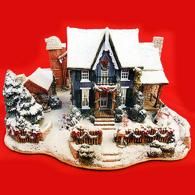 """Lilliput Lane HOME FOR THE HOLIDAYS 3.75"""" England NEW NEVER SOLD NO BOX L-2797"""