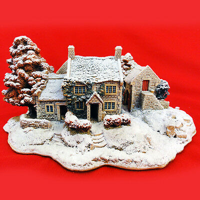 """Lilliput Lane FIRST SNOW AT BLUEBELL 3.5"""" England NEW NEVER SOLD Limited Edition"""