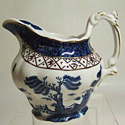 Booth's Real Old Willow Creamer 3.5 inches tall NEW NEVER USED English Pottery