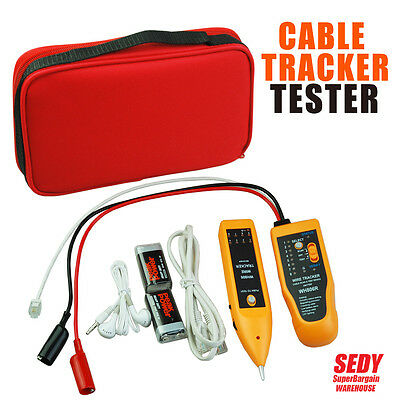 NEW Cable Tester Kit Telephone Lan Network Tracker Cable Wire Finder Tracer Set
