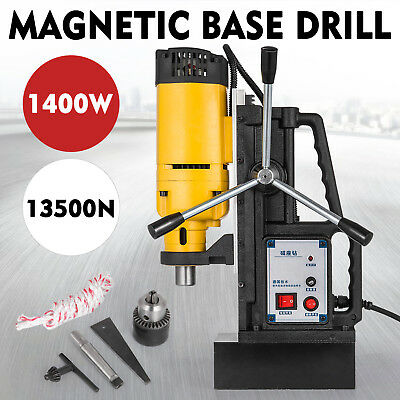 NEW 240V Commercial Magnetic Drill Electric Electro-Mag Base Chuck Power Updated